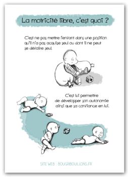 Affiche petite enfance Bougribouillons - Motricité libre 2