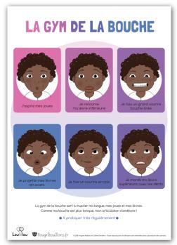 Cartes à découper ou affichette 3 petite enfance Bougribouillons - La gym de la bouche