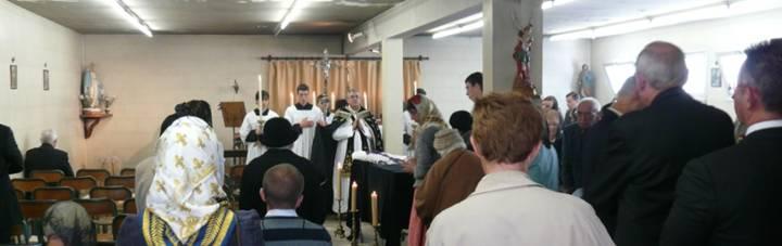 La messe de funérailles de l'abbé Vérité à Lorient, sur la terre mariale de Bretagne