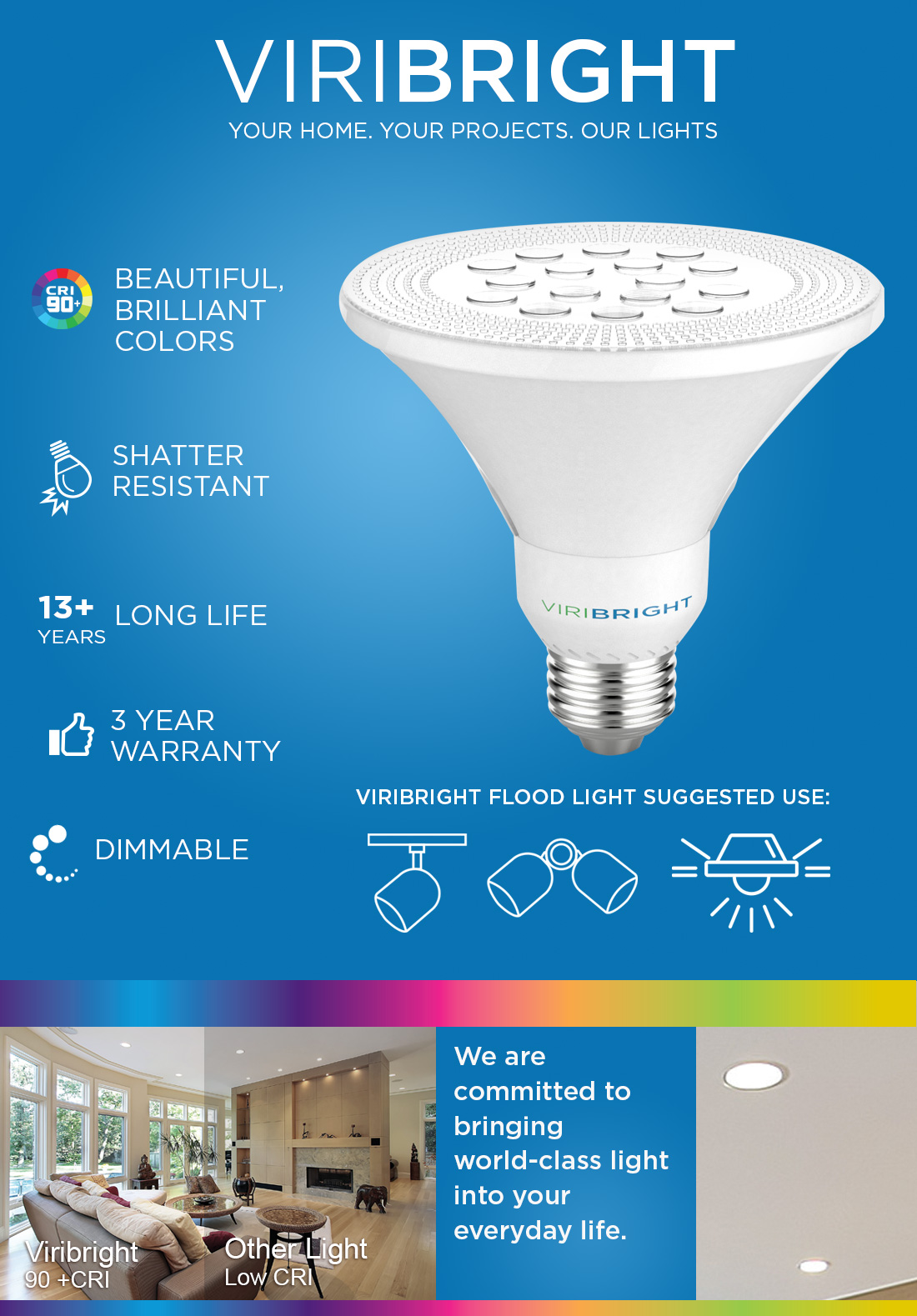 75 Watt Equivalent Par30 Led Light Bulb 9 Watts