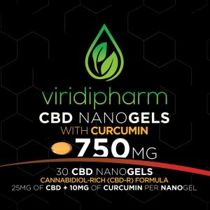 CBD Nanogels with Curcumin CBD Capsules