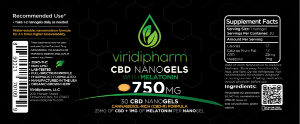CBD Nanogels CBD capsules with Melatonin
