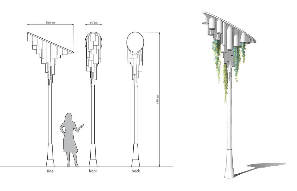 Kрайбрежна алея – Mорска градина – Bарна - детайл на осветително тяло