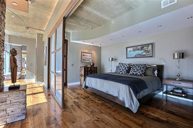 Penthouse Master Bedroom Interior Designer Denver Co