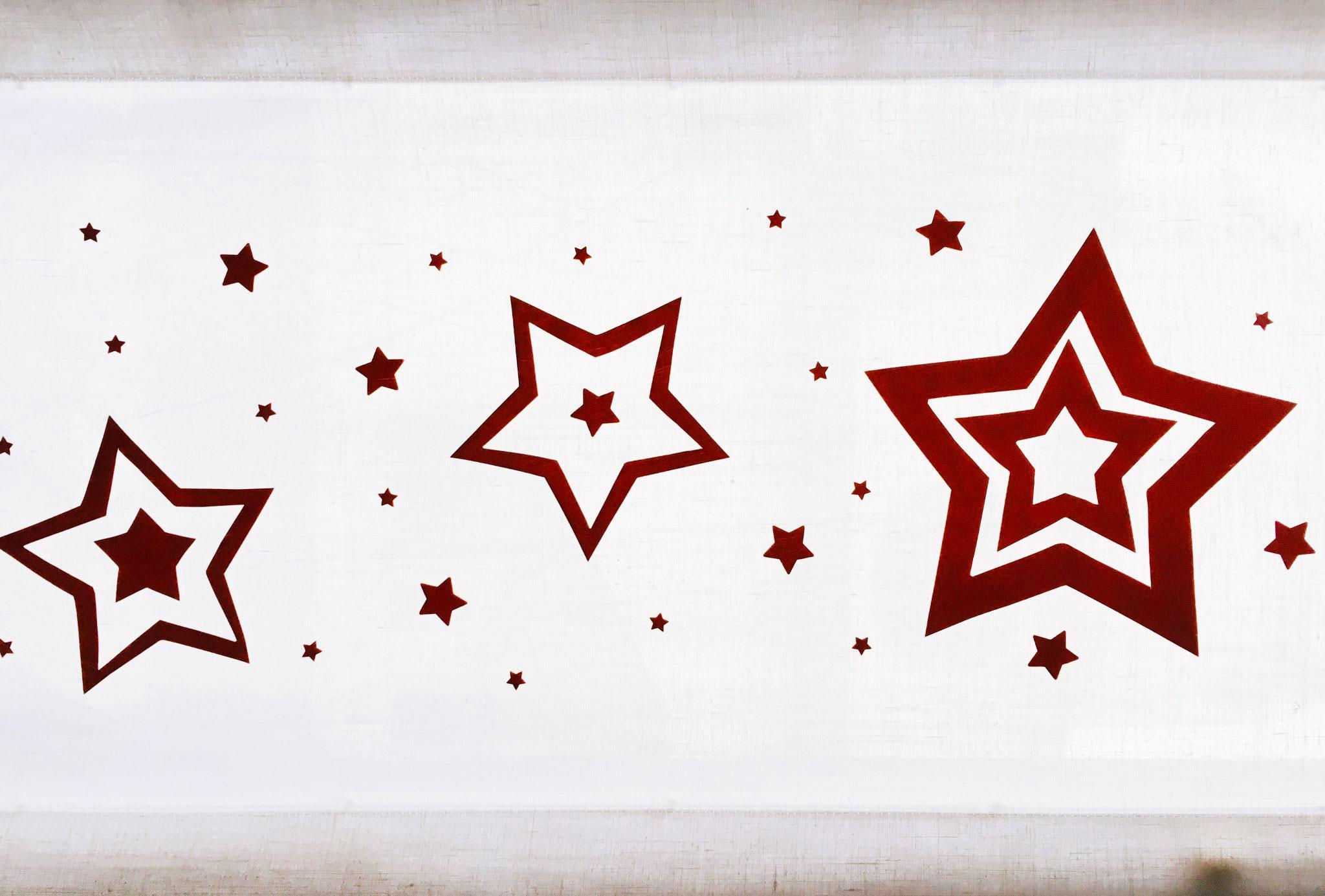 decorazioni natalizie fai da te per tende
