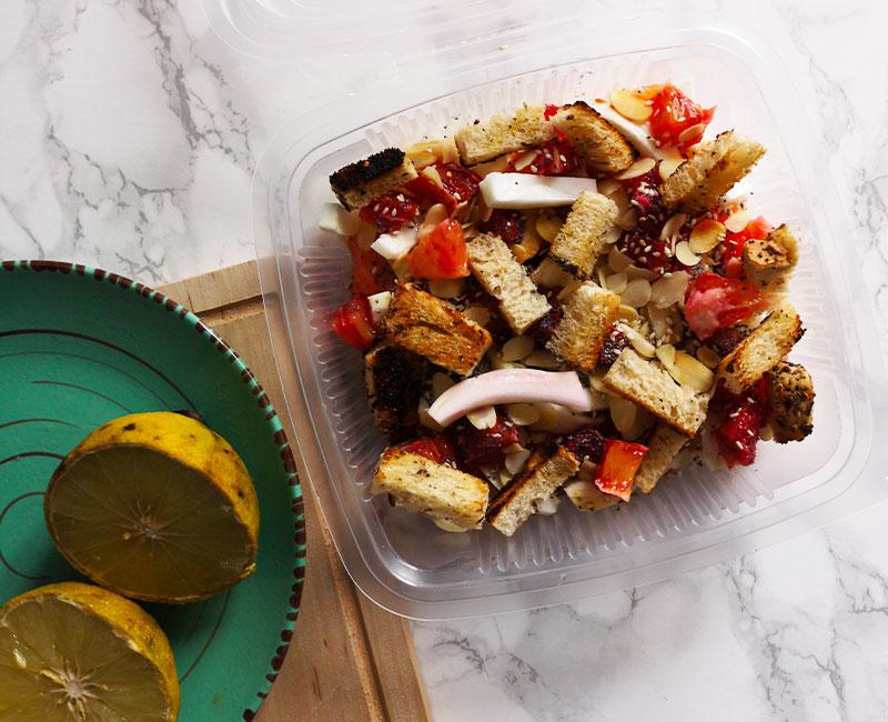 insalata di finocchi e bocconcini di salmone affumicato bergamotto ricetta primavera virosac magazine