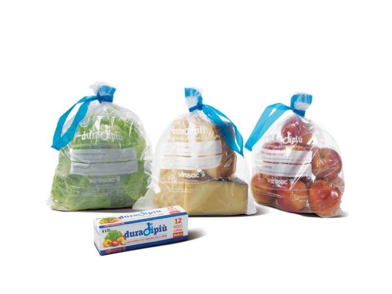 verdura frutta e formaggio nel sacchetto duradipiù