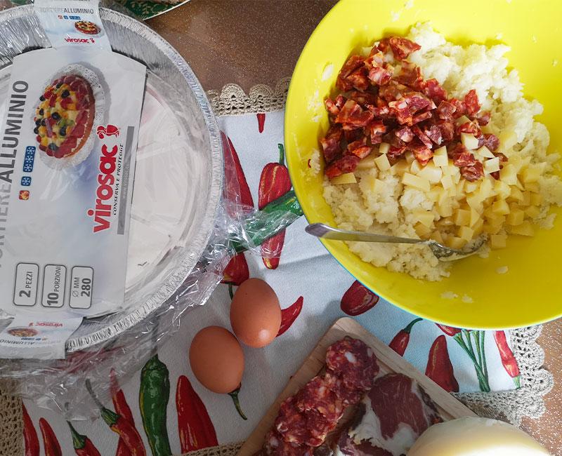 buffet autunnale di antipasti virosac magazine ricetta gateau di patate in preparazione