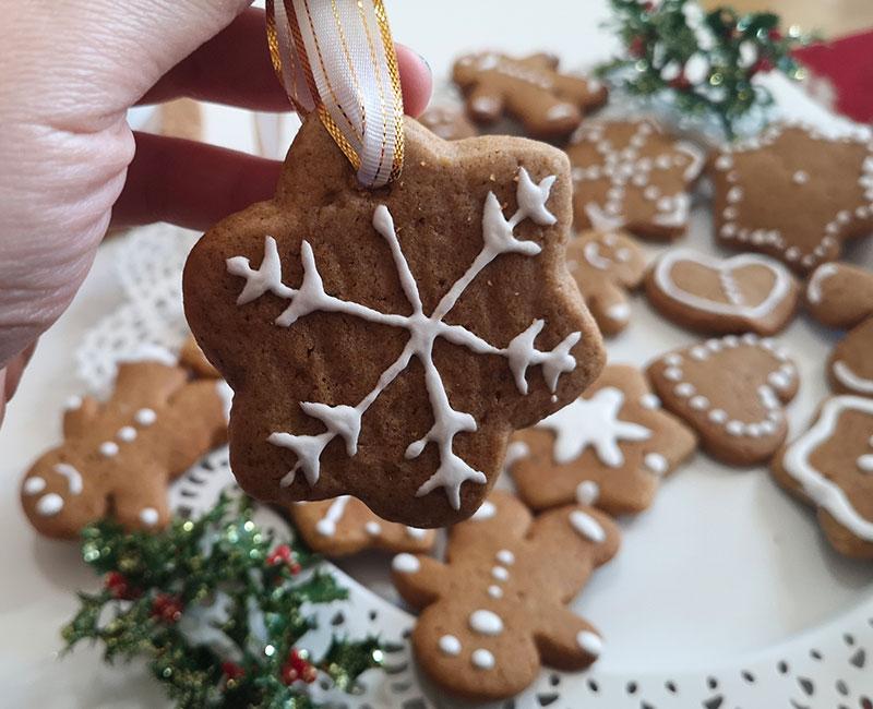 biscotto di natale decorazione fiocco di neve