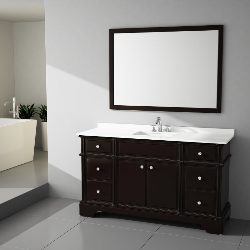 Charm Floor Mount 60 Single Sink Vanity Freestanding Bathroom Vanities Toronto Canada