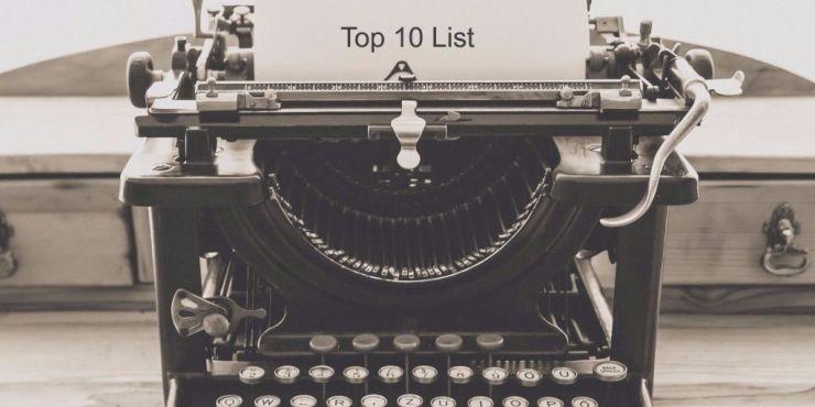 list-style blog posts - top 10 list