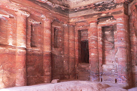 41.- Petra, inside a Royal Tomb