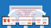 Gebruikers kunnen remarketing advertenties nu uitschakelen