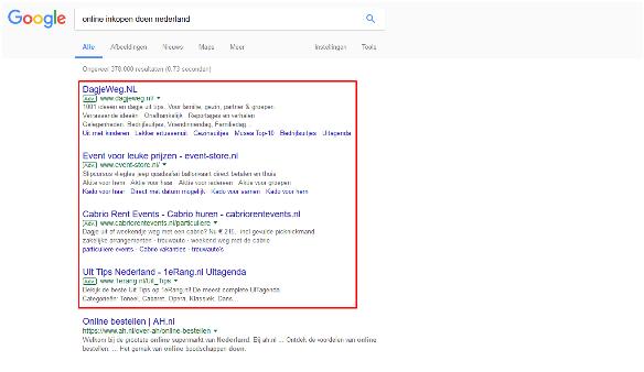 zoeknetwerk Google ads