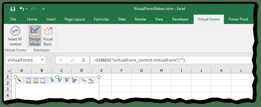 Ribbon control - Excel Userform - Virtual Form