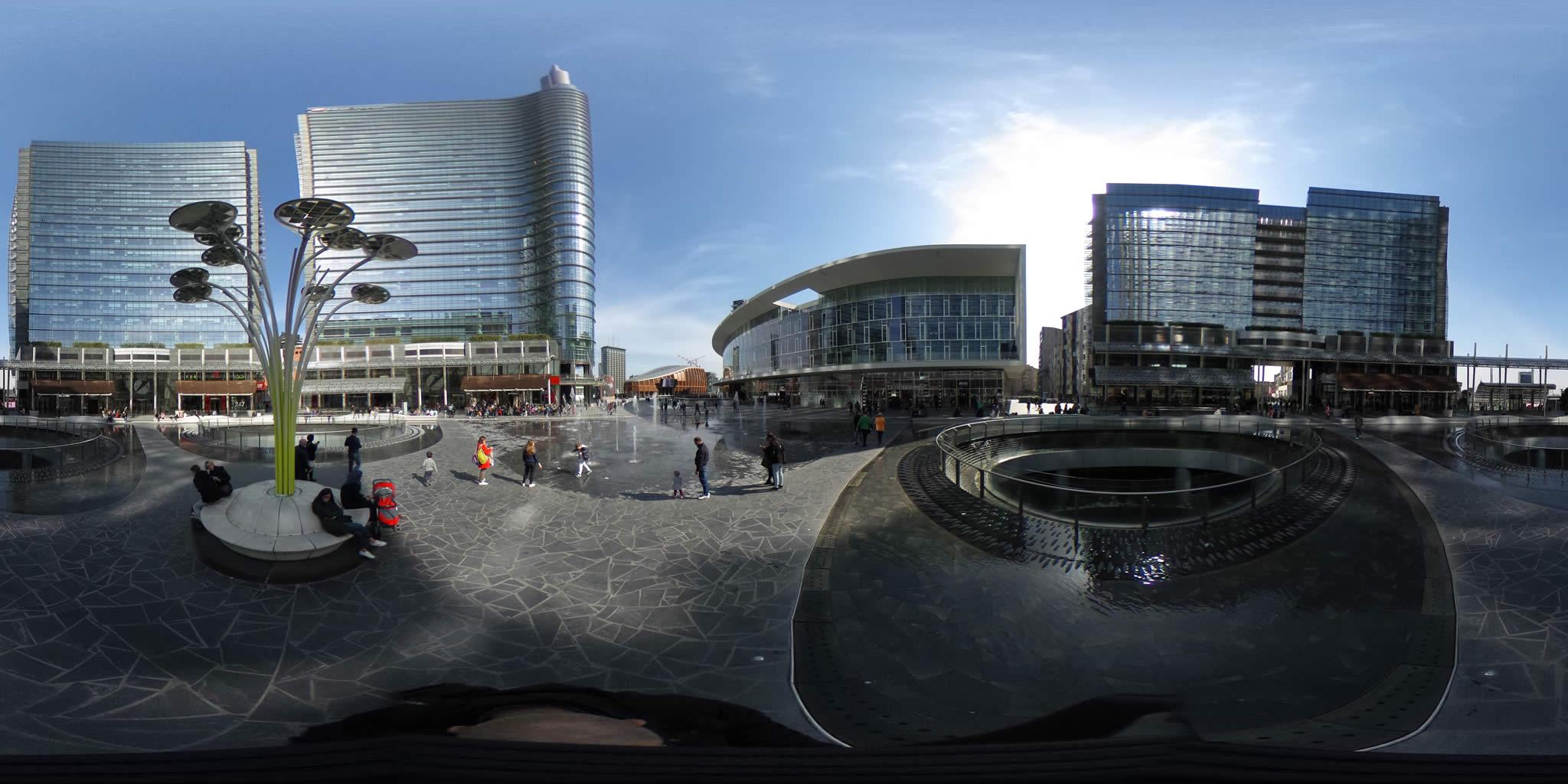 Piazza Gae Aulenti Milano foto virtuali