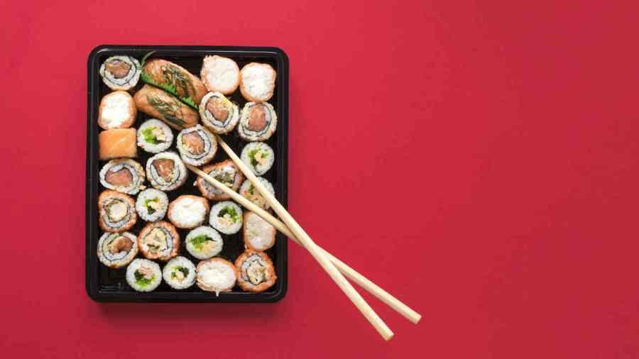 produzindo sushi em casa