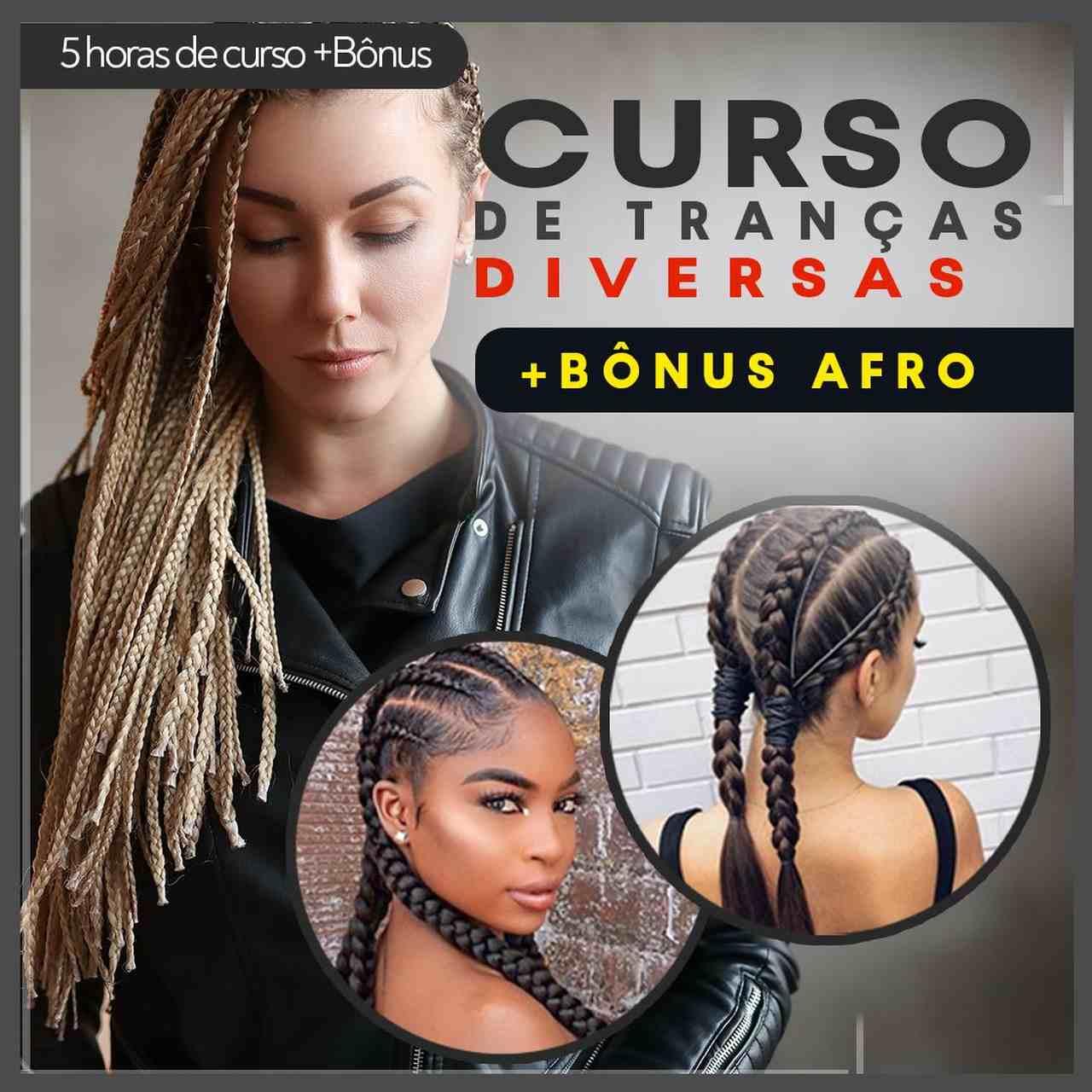 curso profissional de tranças diversas - bônus afro