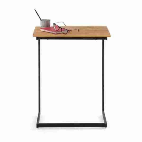 Hiba side table oak steel La Redoute