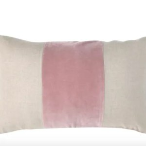 Wolf and Badger Wallace Cotton Andorra Band cushion pink velvet