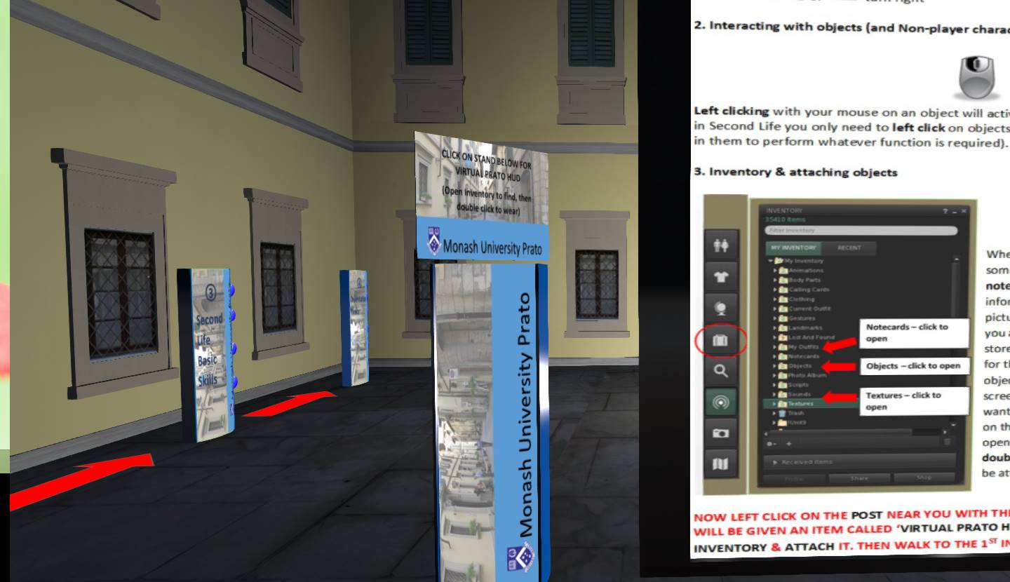 Getting in to Second Life   Monash Chinese Island
