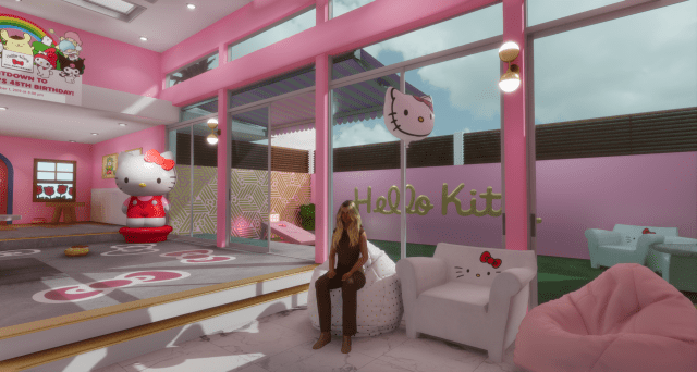 Hello Kitty 45th birthday in Second Life and Sansar
