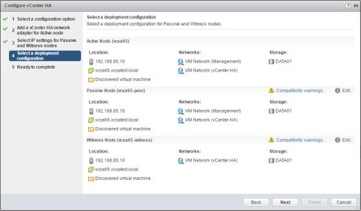 vcsa65n_ha04如何配置VMware VCSA 6.5 HA
