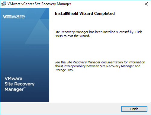 VMware-vCenter-Site-Recovery-Manager-installation-completes-successfully Installing VMware vCenter Site Recovery Manager SRM 8.1