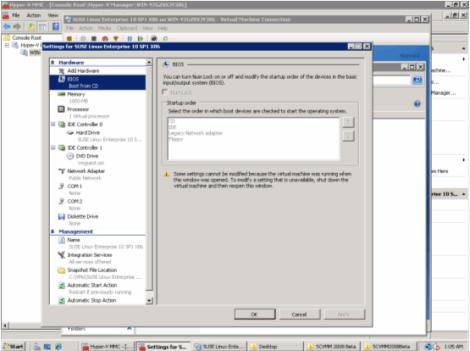 ms windows 2008 hyper-v vm bios settings
