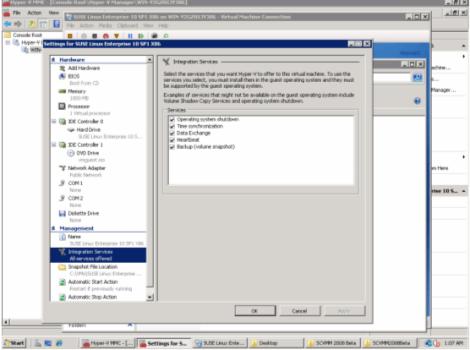 windows 2008 hyper-v manager integration services