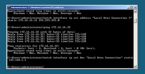 Microsoft Hyper-v Server Core Set Dns