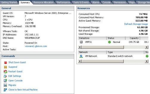 VMware ESX Virtual Machine VMDK  usages before filling it up