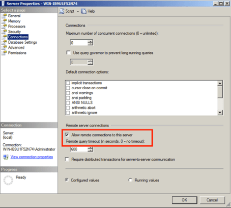 Ensure that you allow remote connections to your SQL Server