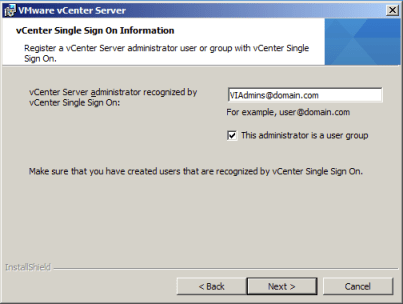 vCenter Server administrator recognized by vCenter Single Sing On