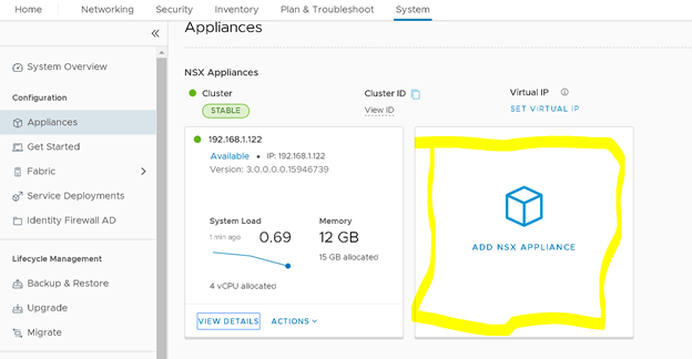 VMware NSX-T Add new NSX Manager