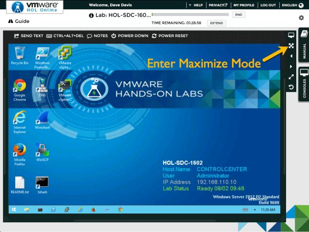 Enter Maximize Mode