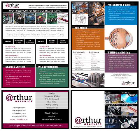 Arthur Graphics - Brochure & Business Cards