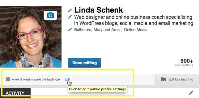 LINKEDIN TIP: Customize Your Public Profile URL