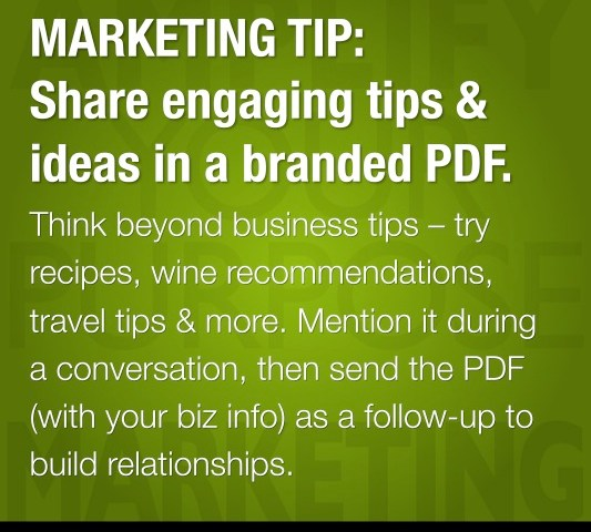 MARKETING TIP: Share Engaging Tips & Ideas in a Branded PDF