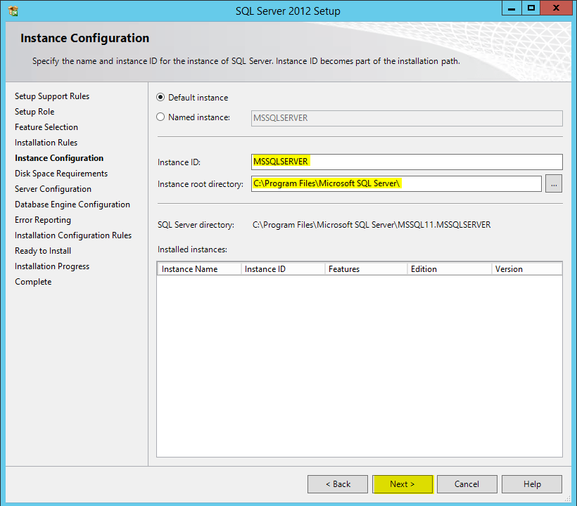 how to change db instance