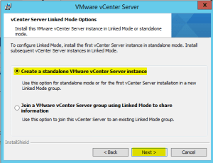 41 vCenterServer Linked Mode Options