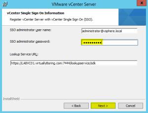 44 vCenterServer SSO Information