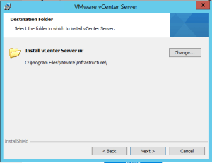 48 vCenterServer Install Directory