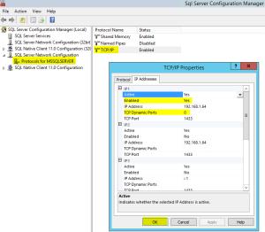 7 SQL TCPIP Properties