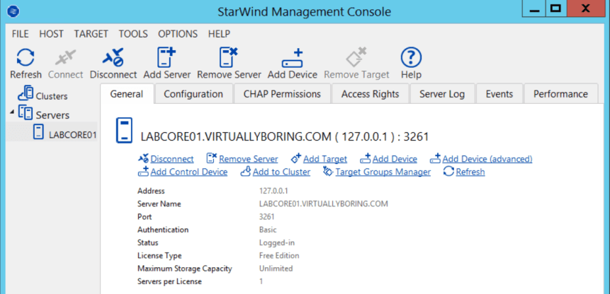 1 StarWind Management Console