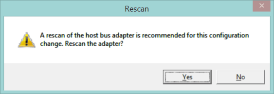 5 Rescan iSCSI Adapter