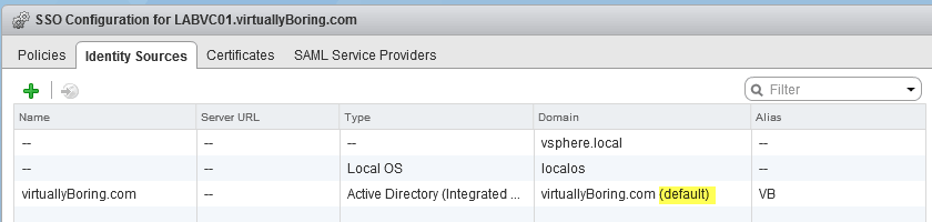 11 VCSA 6 - New default domain