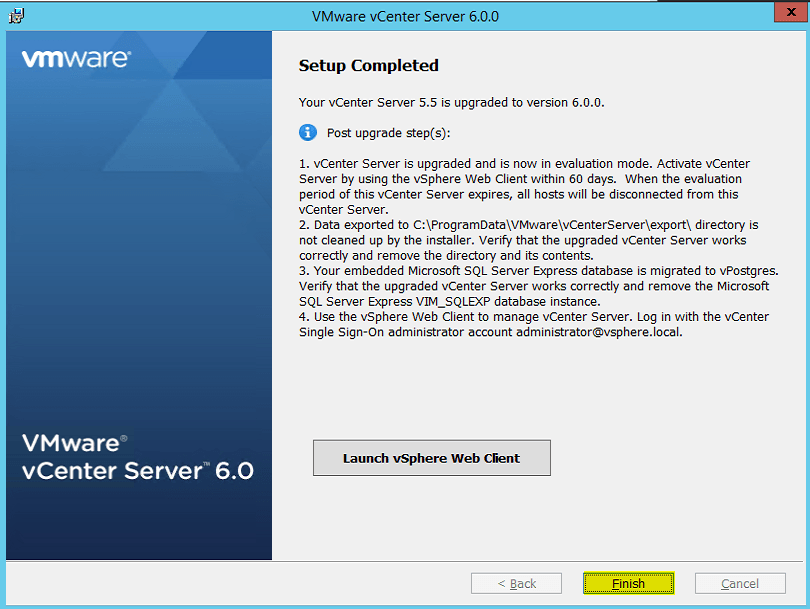 upgrade esxi 5.5 to 6.0 step by step