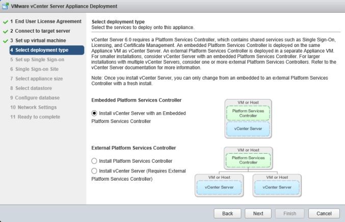5 vCSA Install - Platform Services Controller