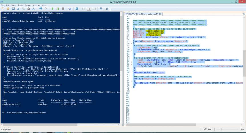 VMTX Powershell Script - Ran from ICE